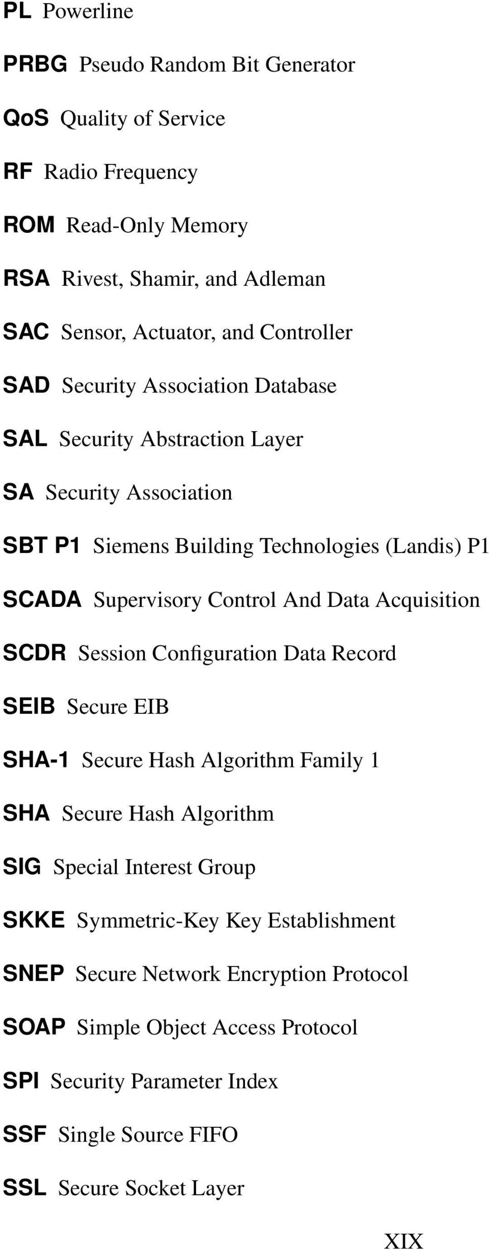 And Data Acquisition SCDR Session Configuration Data Record SEIB Secure EIB SHA-1 Secure Hash Algorithm Family 1 SHA Secure Hash Algorithm SIG Special Interest Group SKKE