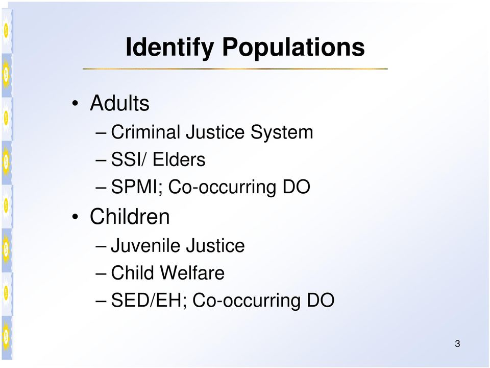 Co-occurring DO Children Juvenile