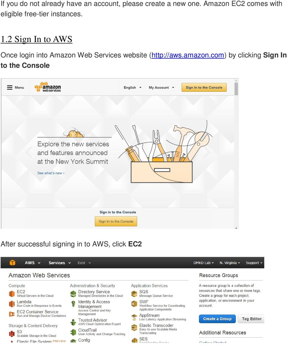 2 Sign In to AWS Once login into Amazon Web Services website