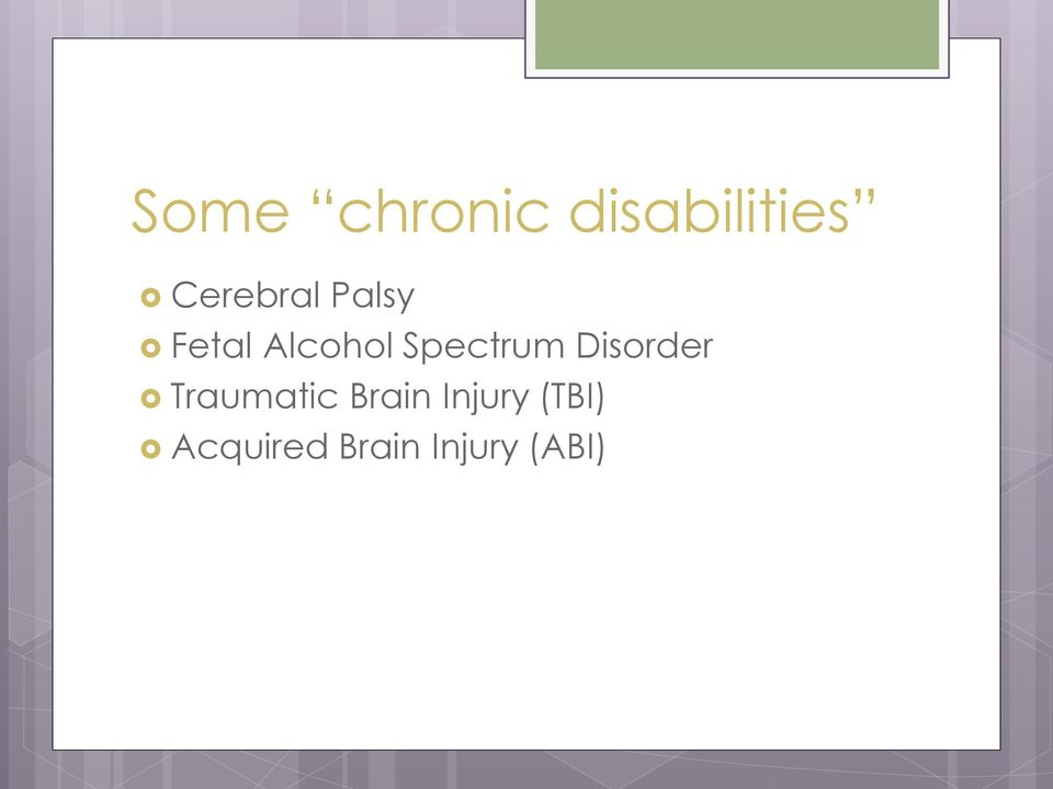 Spectrum Disorder Traumatic