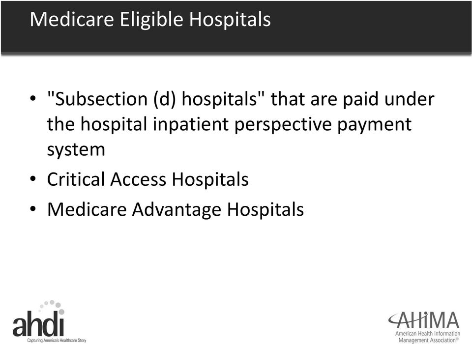 inpatient perspective payment system
