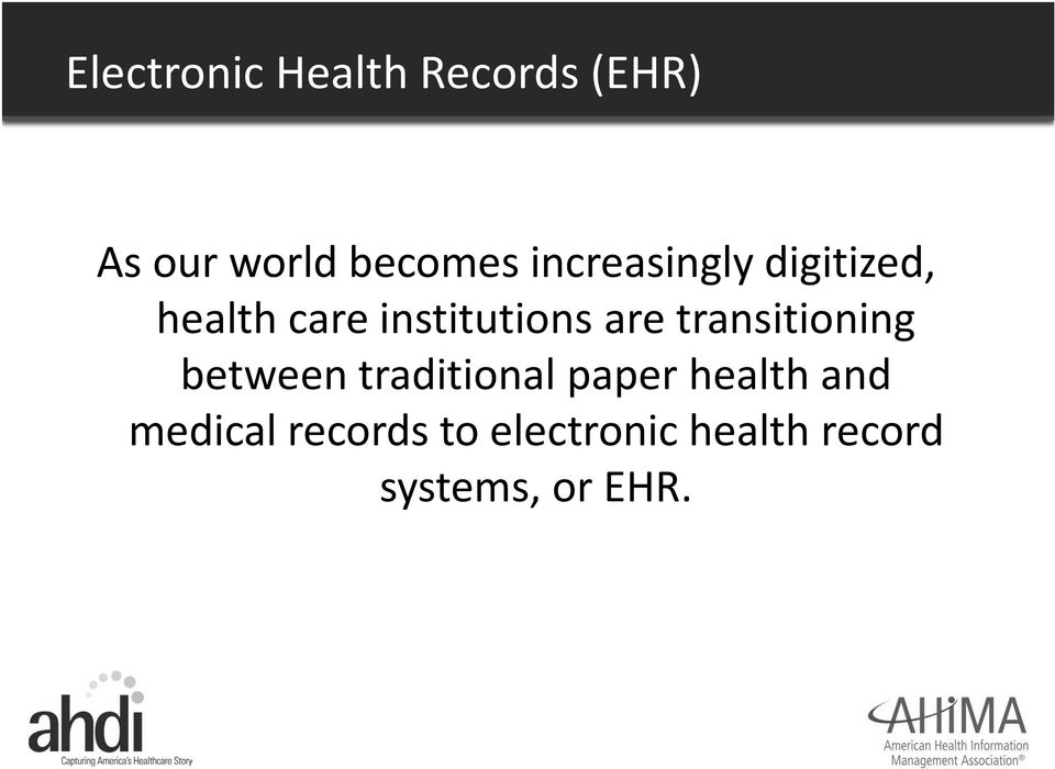 transitioning between traditional paper health and