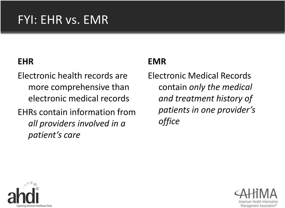 medical records EHRs contain information from all providers involved in