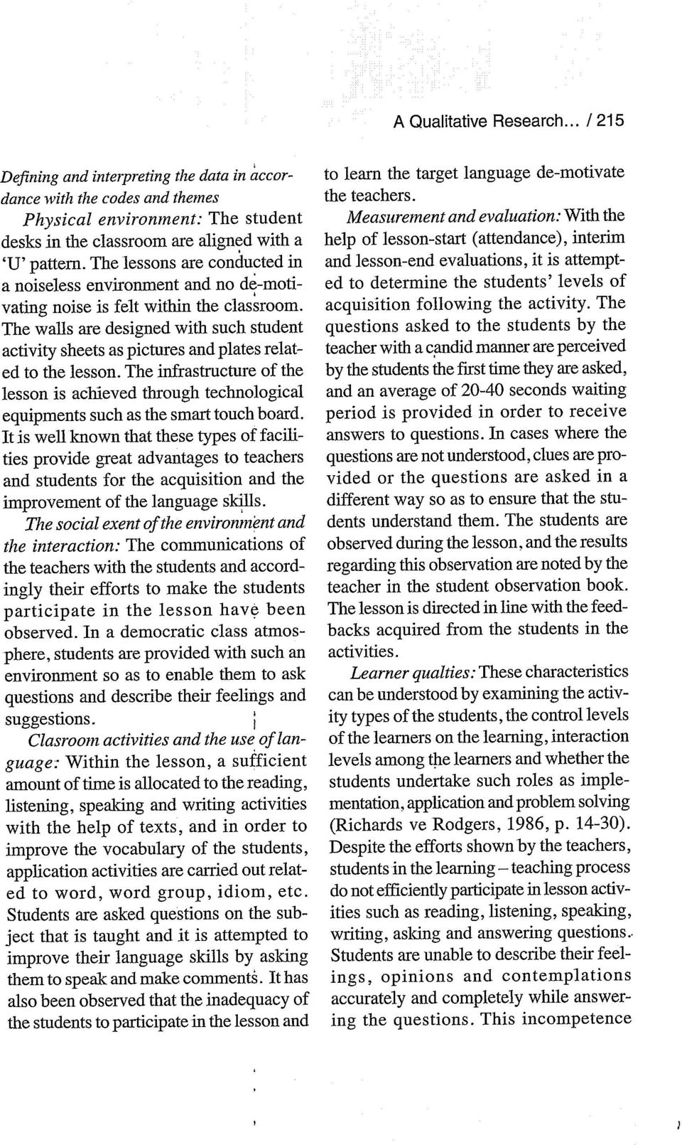 The walls are designed with such student activity sheets as pictures and plates related to the lesson.