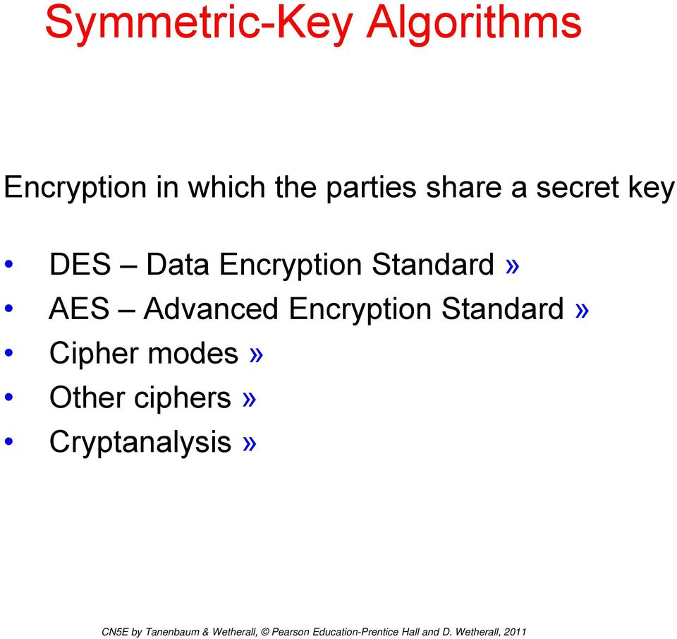 Encryption Standard d» AES Advanced Encryption