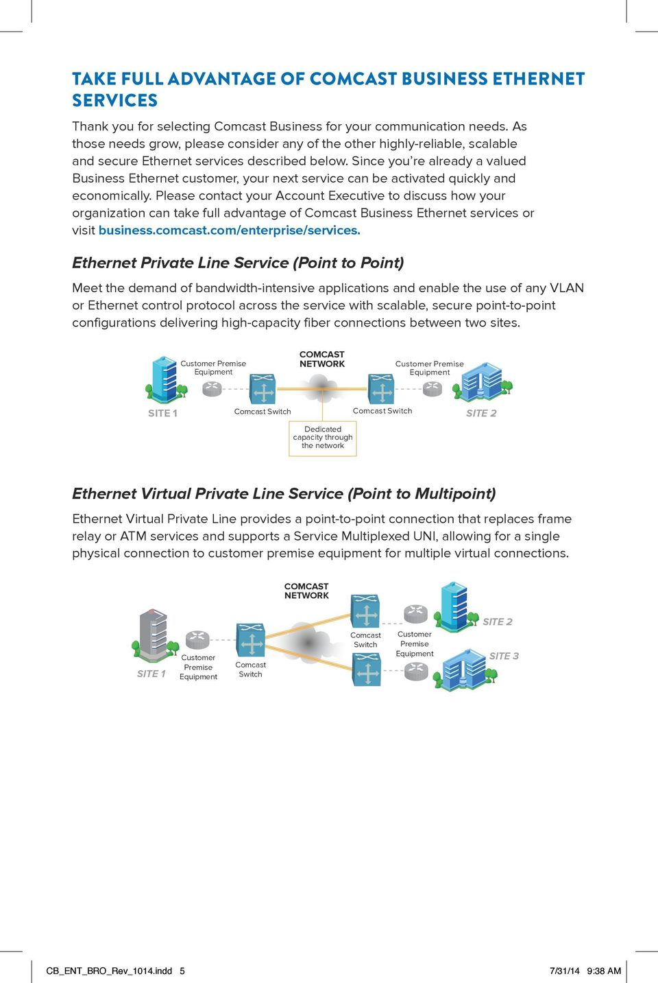 Since you re already a valued Business Ethernet customer, your next service can be activated quickly and economically.