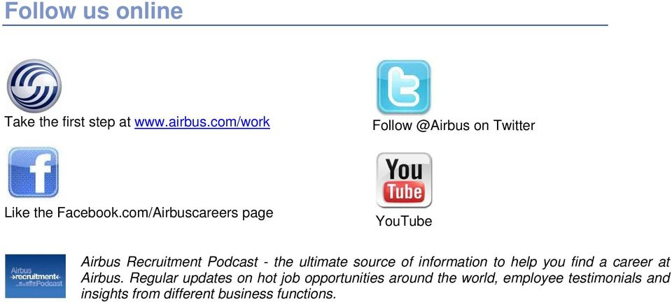 com/careers page YouTube Recruitment Podcast - the ultimate source of information to