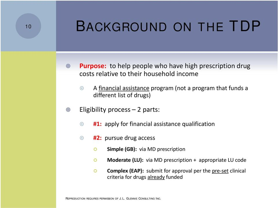 for financial assistance qualification #2: pursue drug access Simple (GB): via MD prescription Moderate (LU): via MD