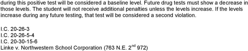 The student will not receive additional penalties unless the levels increase.