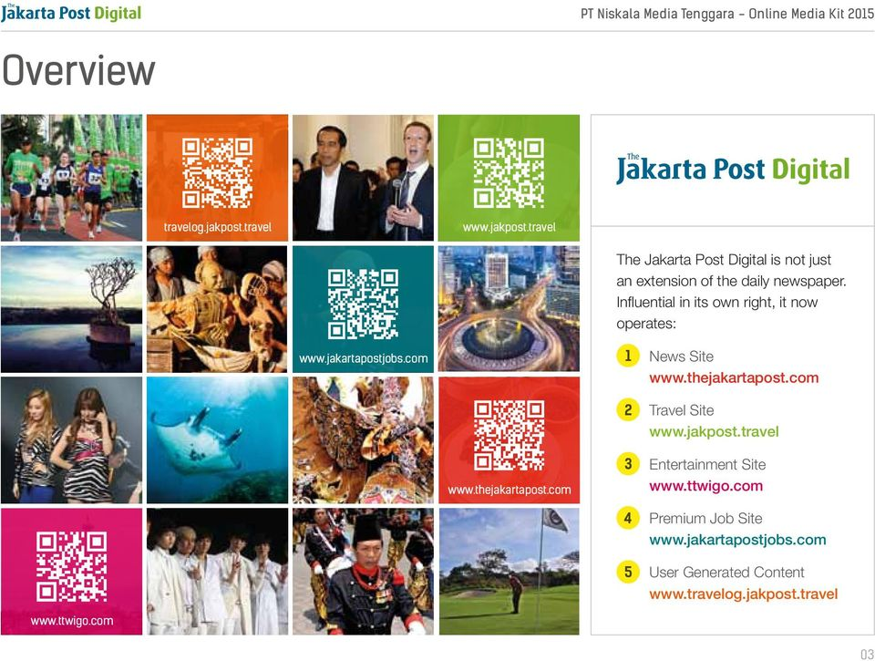 com Travel Site www.jakpost.travel www.thejakartapost.com 3 4 5 Entertainment Site www.ttwigo.