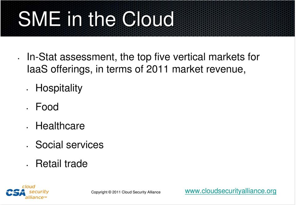 offerings, in terms of 2011 market revenue,