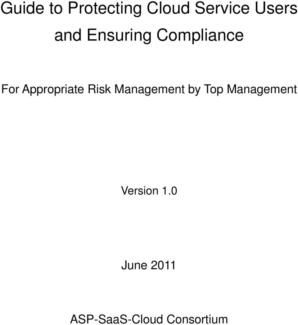 Risk Management by Top Management