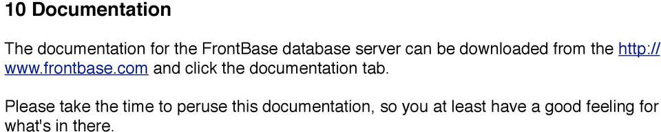 com and click the documentation tab.