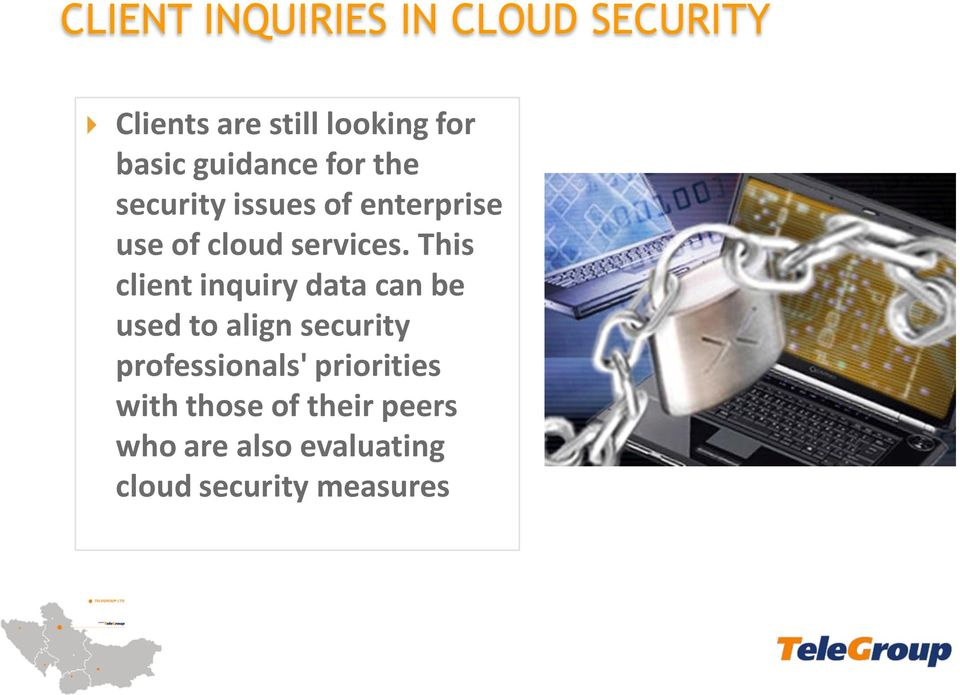 This client inquiry data can be used to align security professionals'