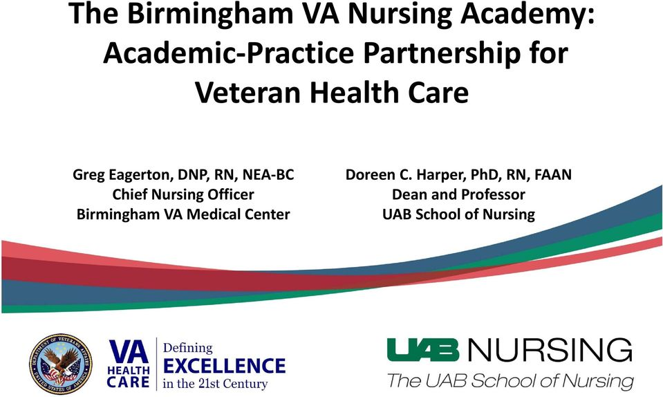 NEA BC Chief Nursing Officer Birmingham VA Medical Center