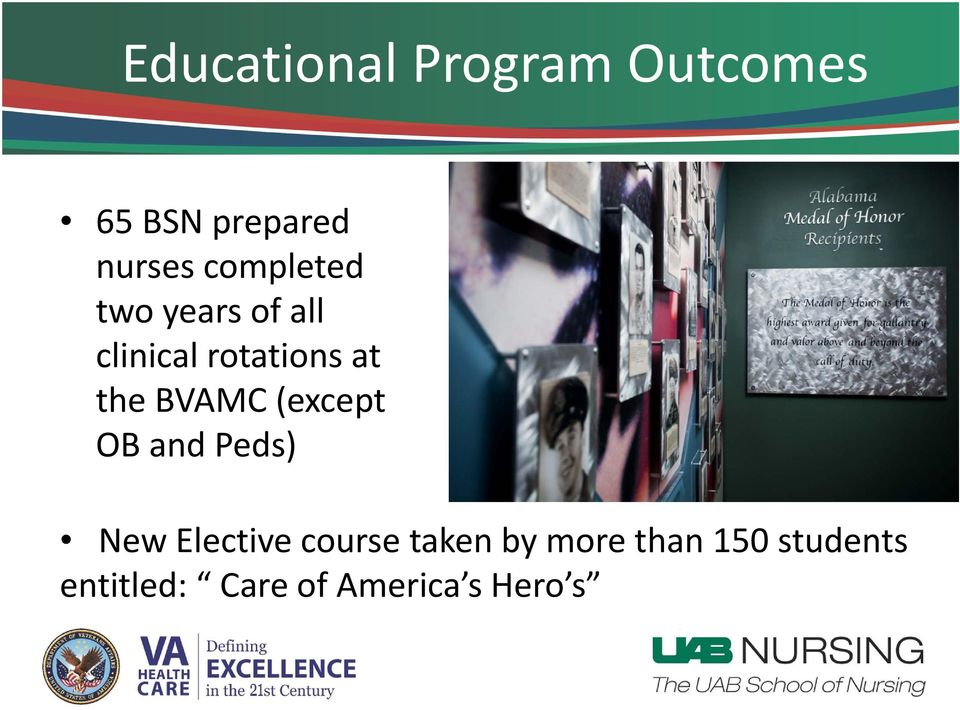 BVAMC (except OB and Peds) New Elective course taken