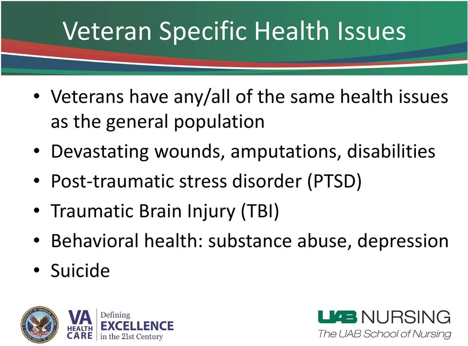 amputations, disabilities Post traumatic stress disorder (PTSD)