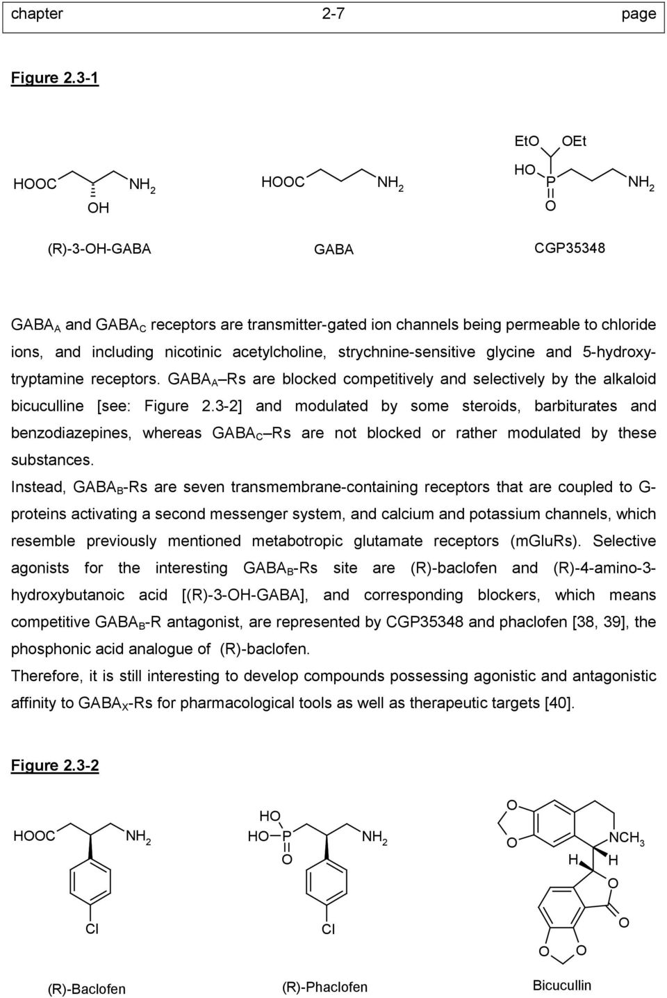 strychnine-sensitive glycine and 5-hydroxytryptamine receptors. GABA A Rs are blocked competitively and selectively by the alkaloid bicuculline [see: Figure 2.