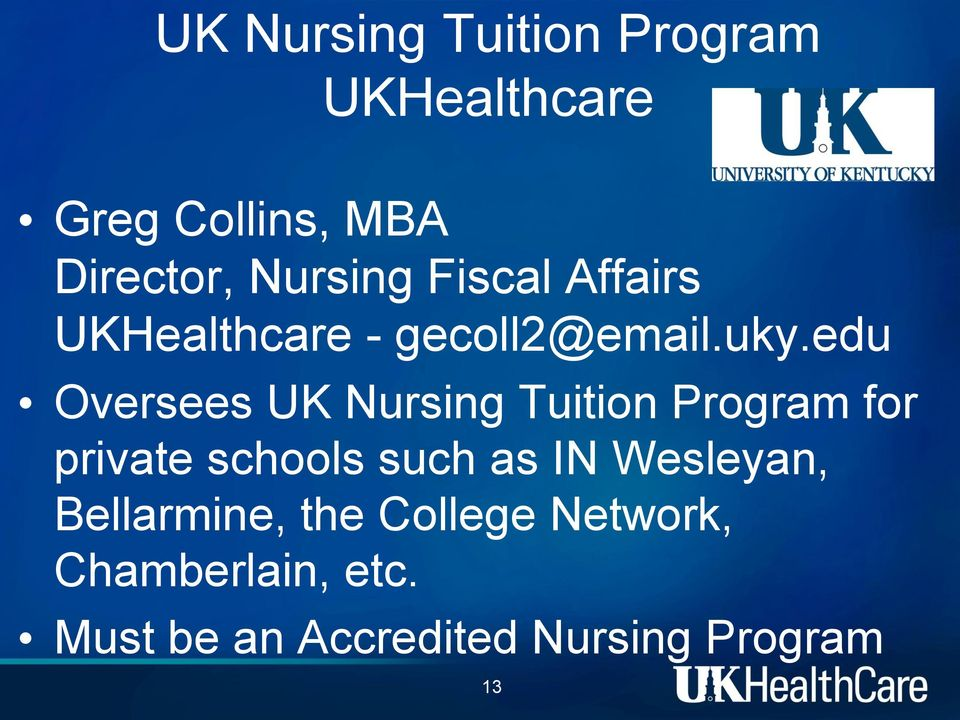 edu Oversees UK Nursing Tuition Program for private schools such as IN