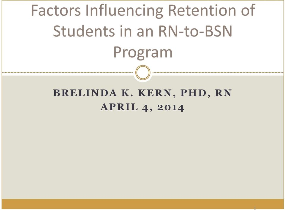an RN-to-BSN Program