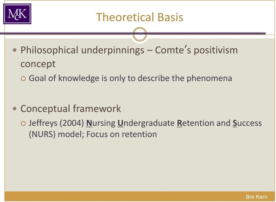 the phenomena 4 Conceptual framework Jeffreys (2004)