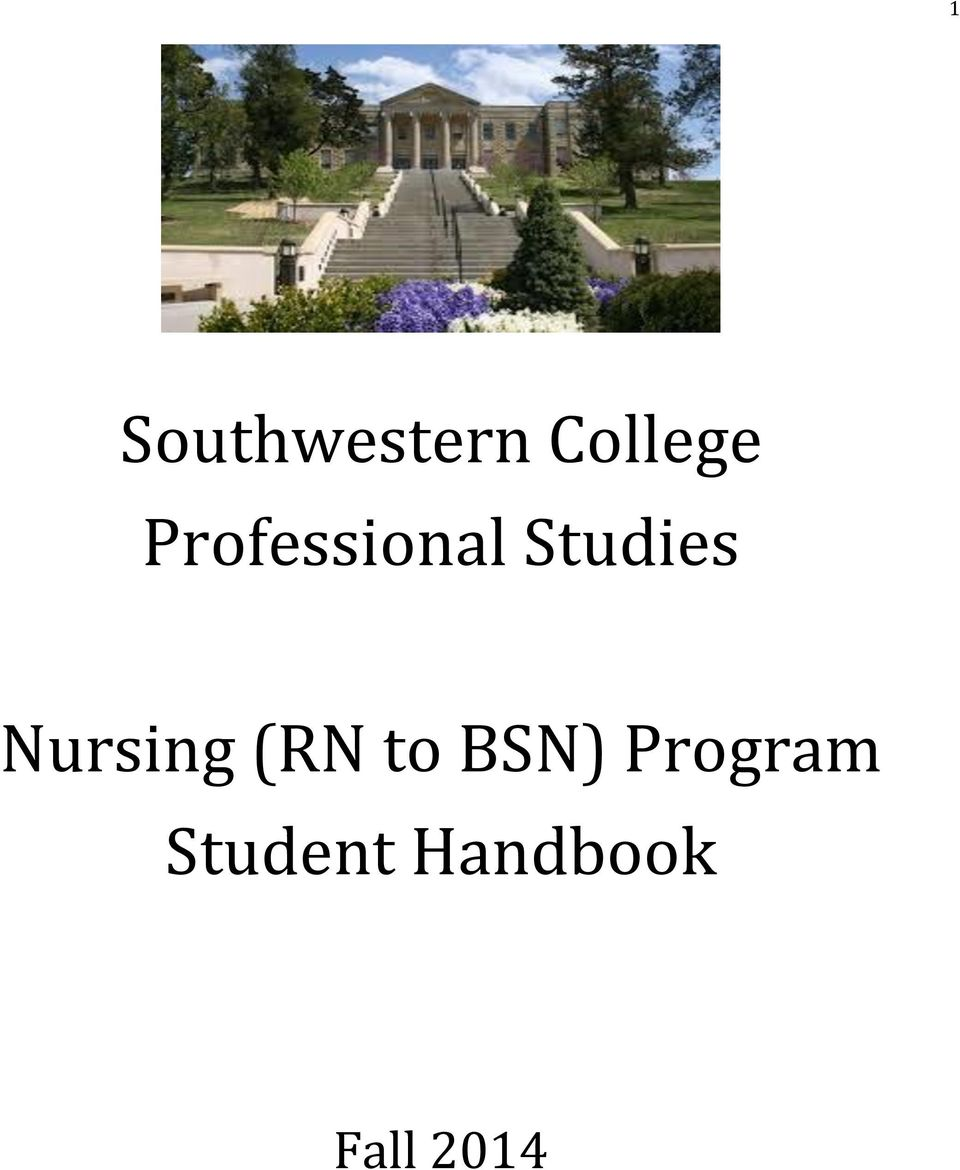 Nursing (RN to BSN)