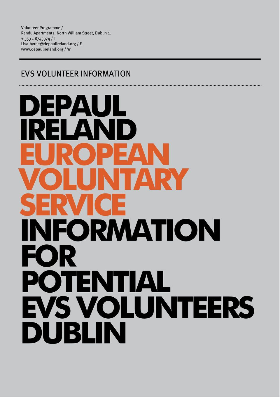 VOLUNTARY SERVICE INFORMATION
