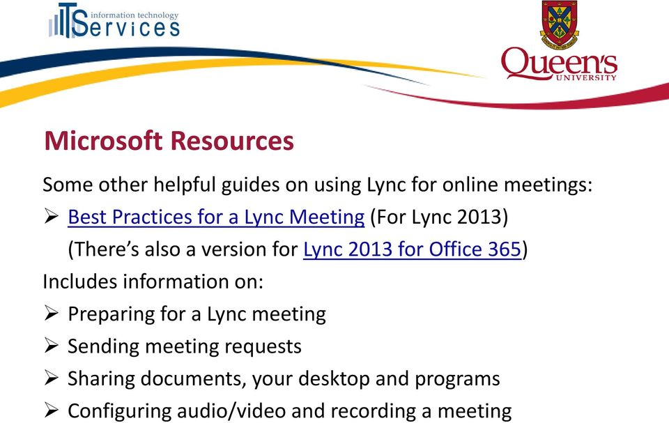 Office 365) Includes information on: Preparing for a Lync meeting Sending meeting