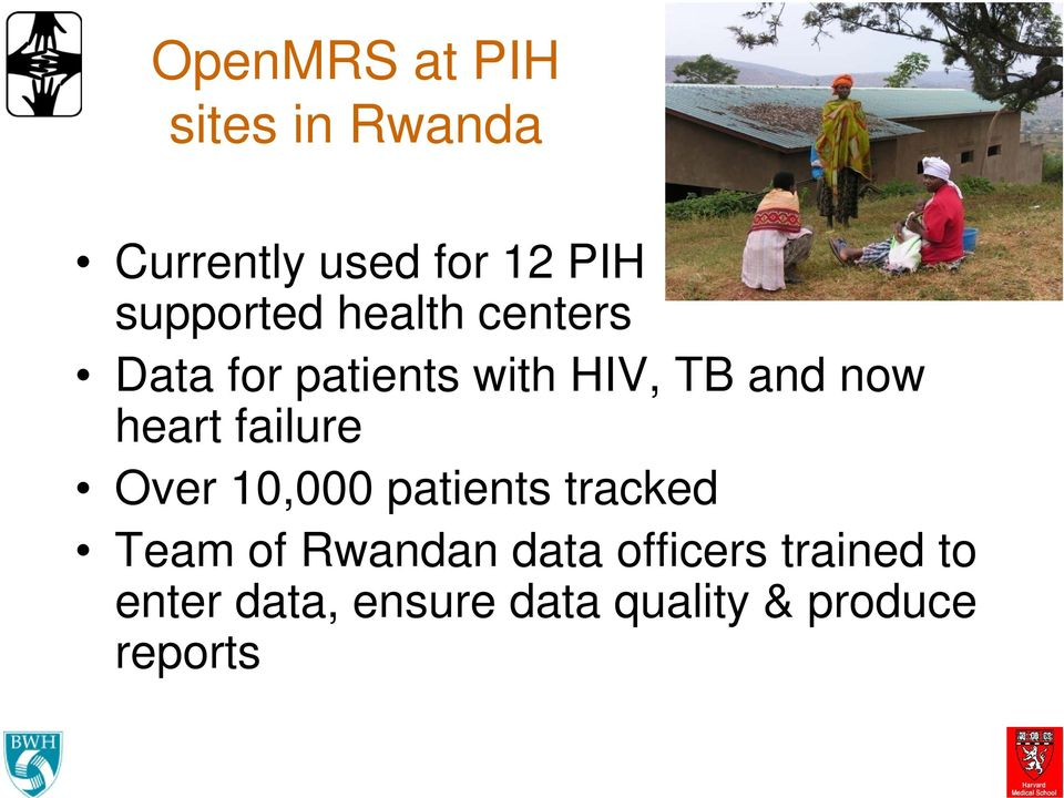 heart failure Over 10,000 patients tracked Team of Rwandan data