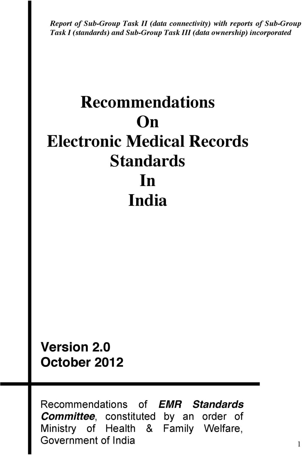 Electronic Medical Records Standards In India Version 2.