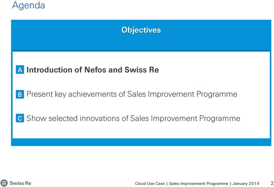 Sales Improvement Programme C Show selected