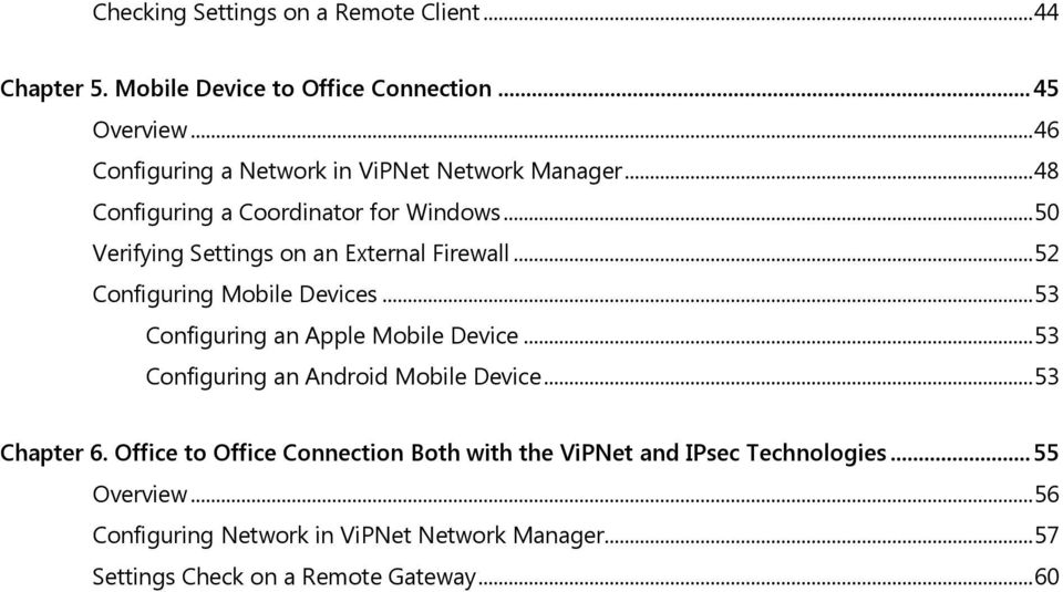 .. 50 Verifying Settings on an External Firewall... 52 Configuring Mobile Devices... 53 Configuring an Apple Mobile Device.
