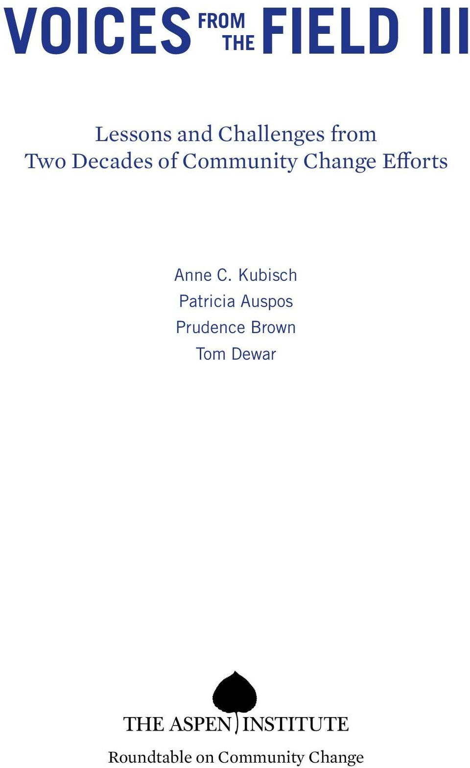 Change Efforts Anne C.