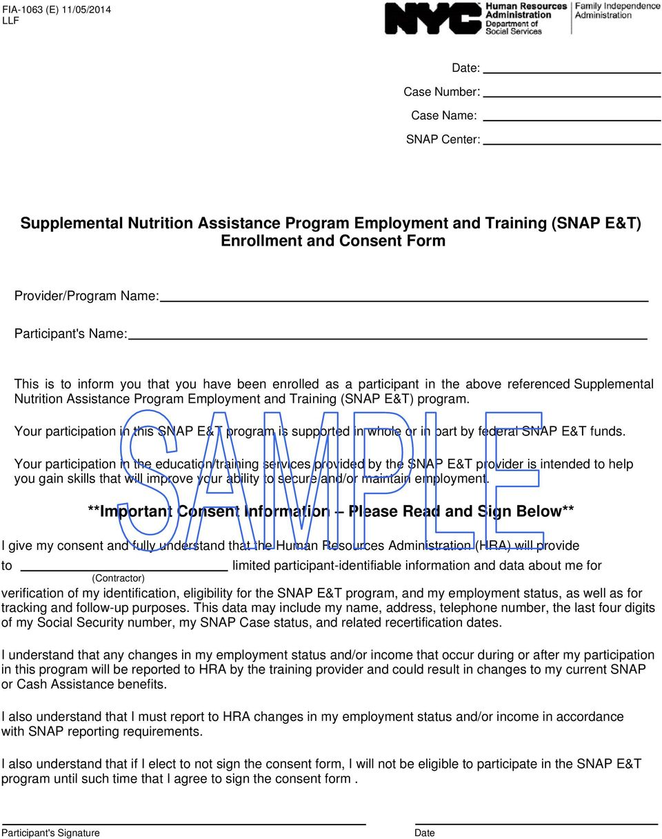 Your participation in this SNAP E&T program is supported in whole or in part by federal SNAP E&T funds.