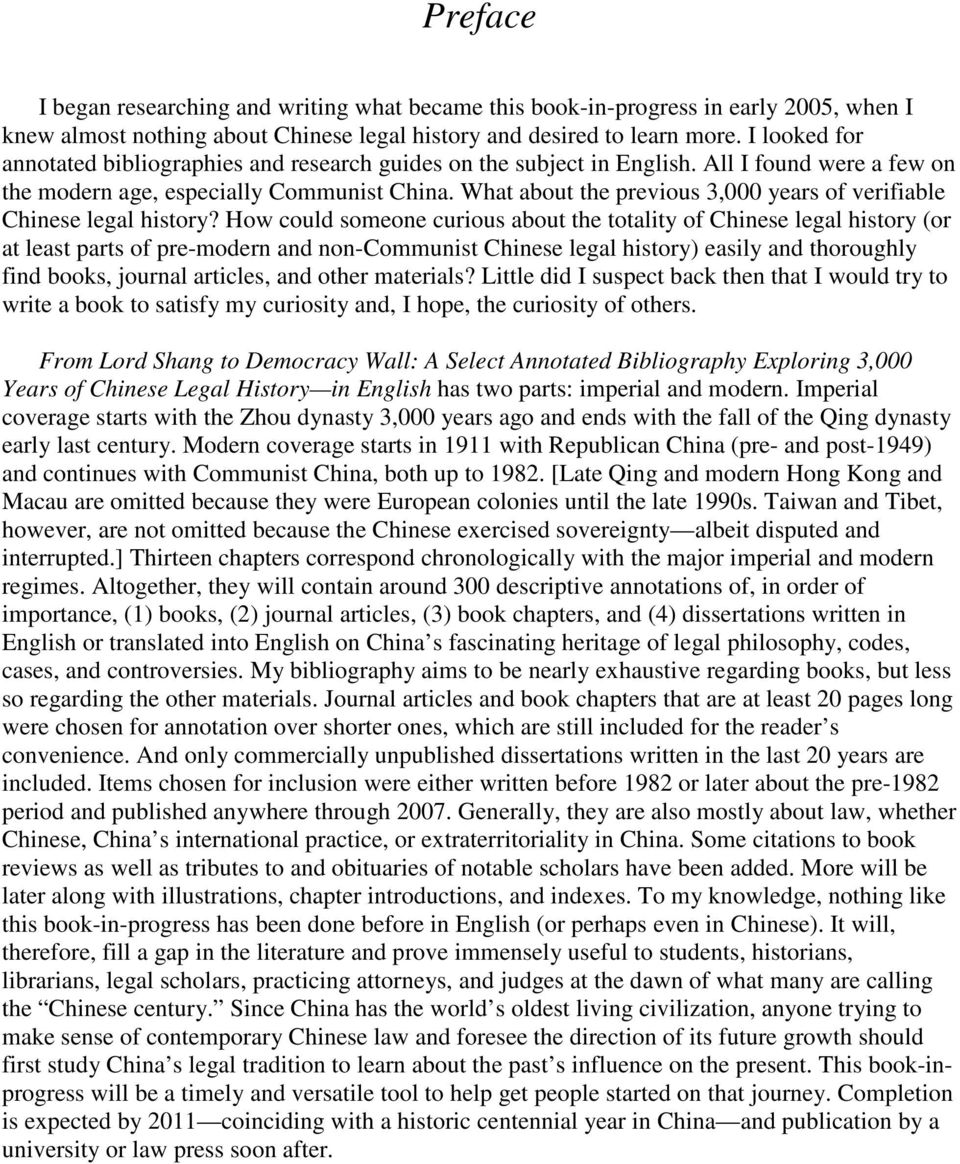 What about the previous 3,000 years of verifiable Chinese legal history?