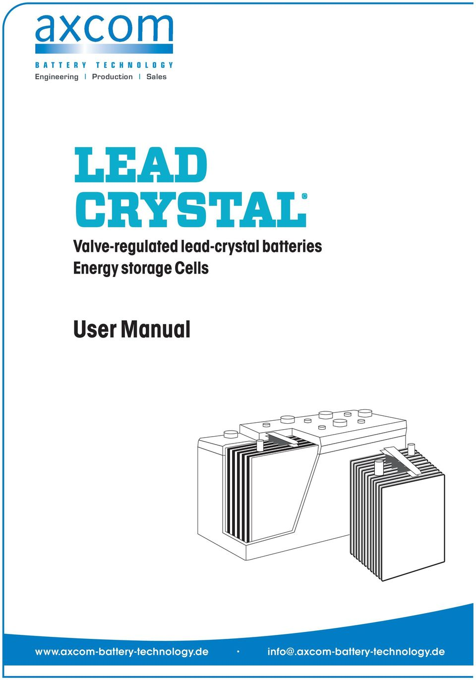 Energy storage Cells User Manual www.