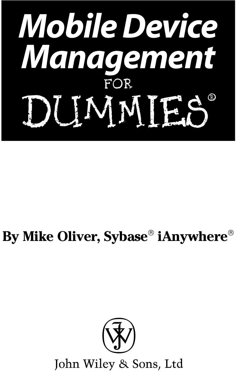 DUMmIES By Mike