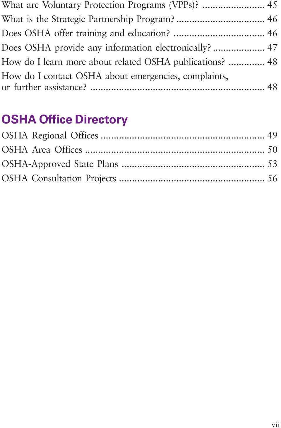 ... 47 How do I learn more about related OSHA publications?