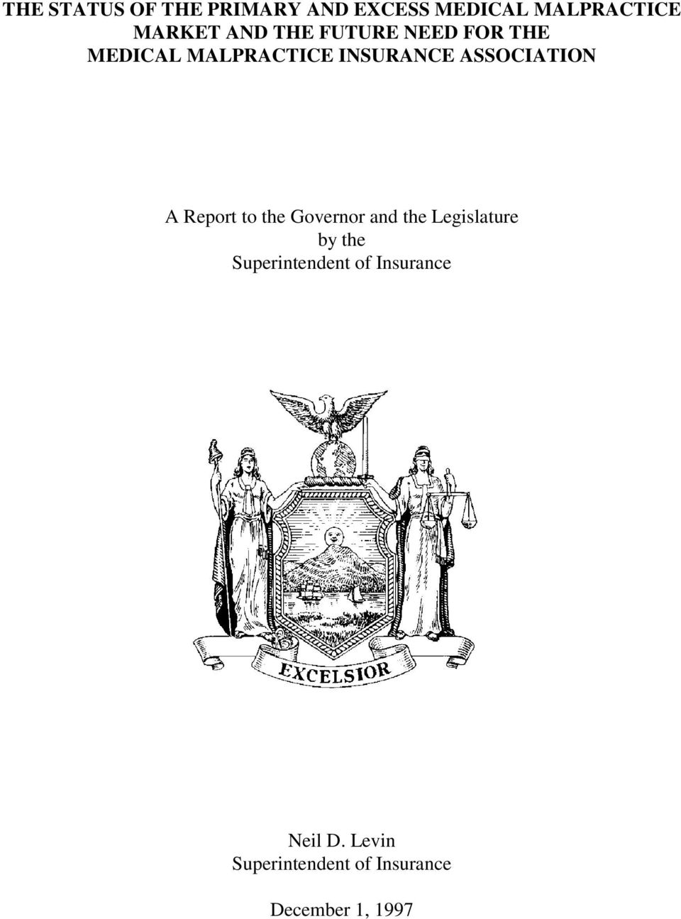 Report to the Governor and the Legislature by the Superintendent of