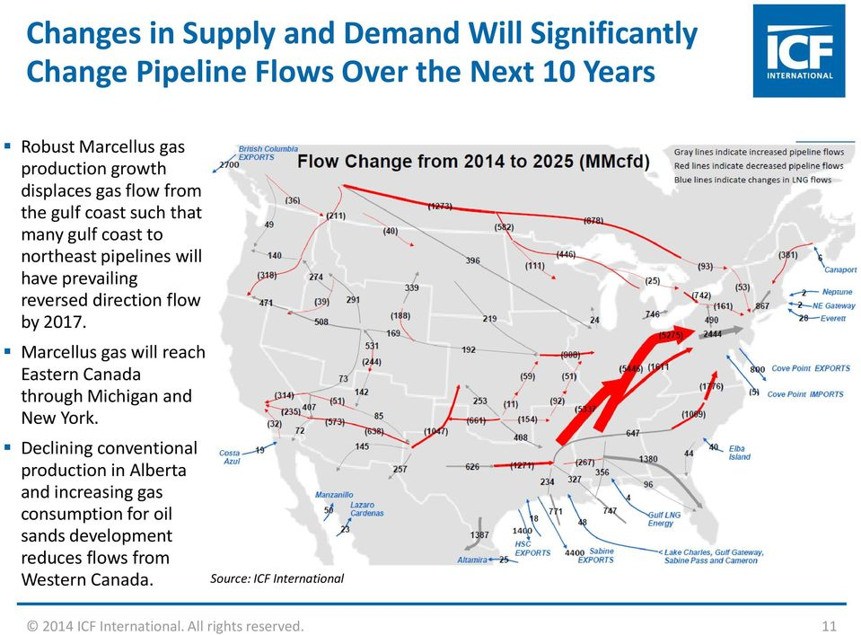 2017. Marcellus gas will reach Eastern Canada through Michigan and New York.