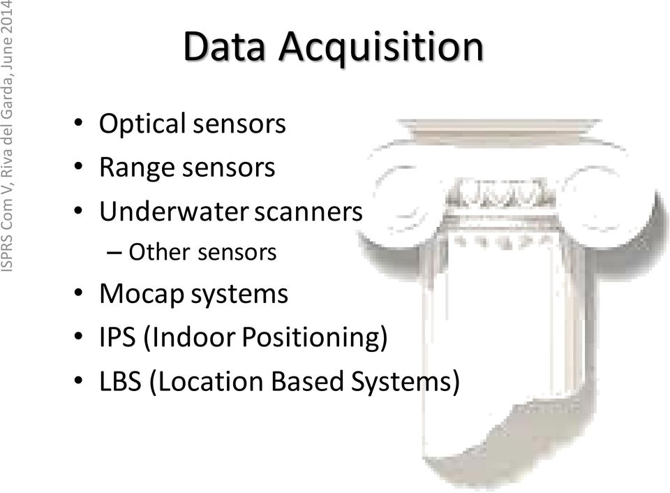 Other sensors Mocap systems IPS