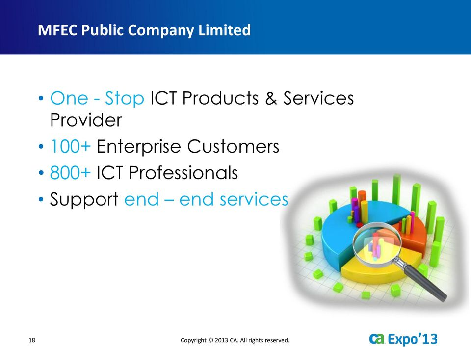Customers 800+ ICT Professionals Support end