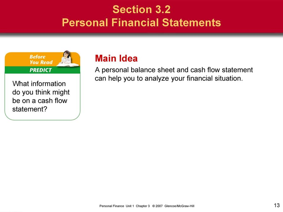 you think might be on a cash flow statement?