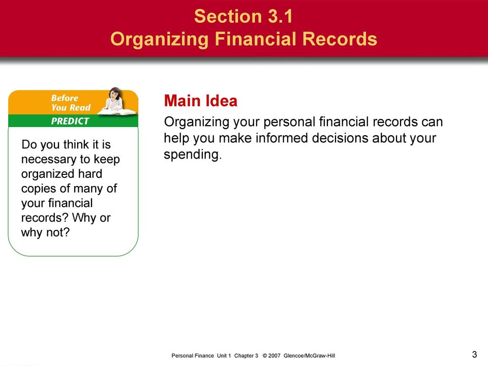 keep organized hard copies of many of your financial records?