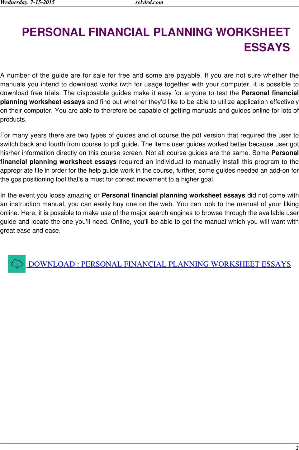 top tips for writing in a hurry personal finance essay journal of personal finance is distinctive in that it is financial planning practitioner oriented but is a refereed academic journal