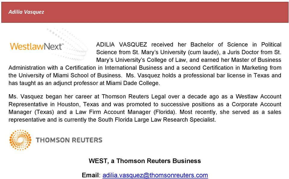Miami School of Business. Ms.