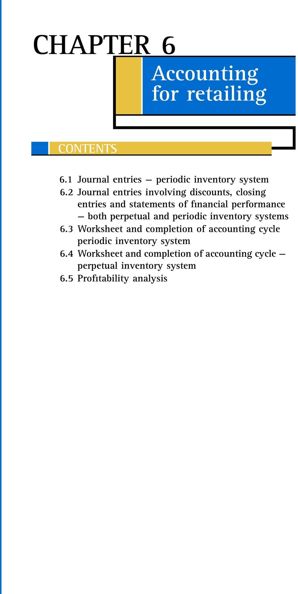 perpetual and periodic inventory systems 6.