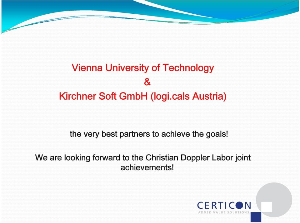 cals Austria) & the very best partners to