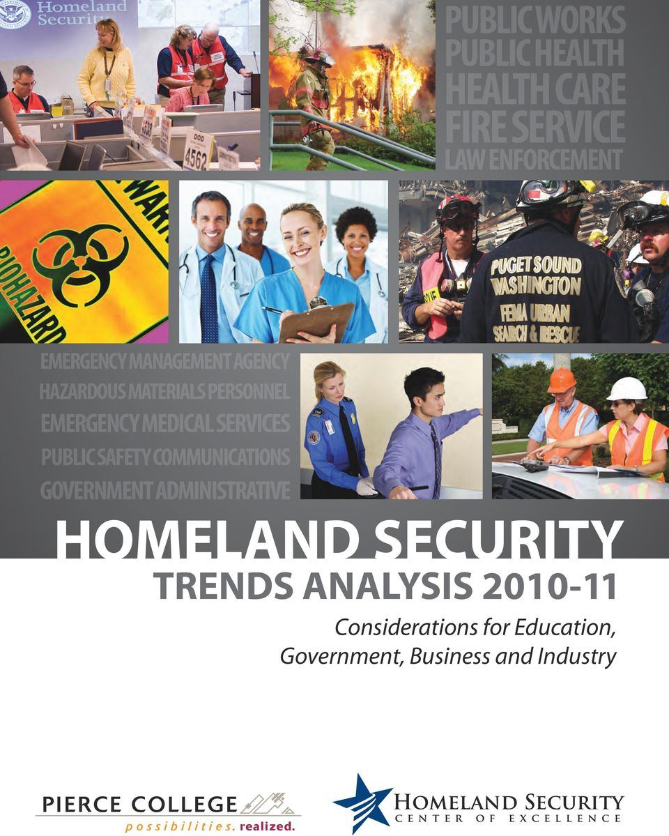 SAFETY COMMUNICATIONS GOVERNMENT ADMINISTRATIVE HOMELAND SECURITY TRENDS ANALYSIS