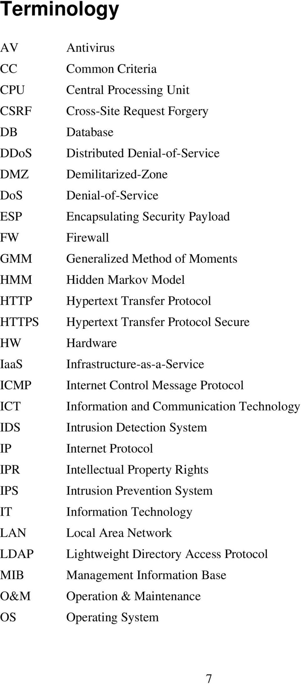 Protocol Hypertext Transfer Protocol Secure Hardware Infrastructure-as-a-Service Internet Control Message Protocol Information and Communication Technology Intrusion Detection System Internet